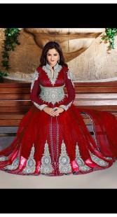 Beautiful Asmita Sood In Designer Anarkali Cum Lehenga