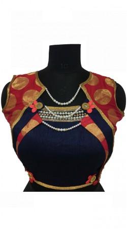 Beautiful Blue Silk Designer Blouse