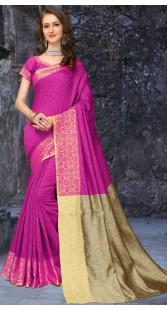 Beautiful Silk Saree With Matching Blouse 3FD8598621
