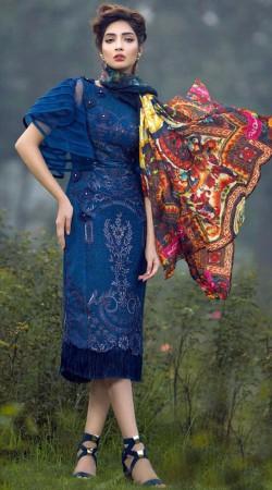 Blue Bell Sleeves Designer Salwar Kameez