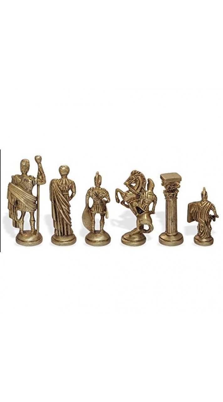 Buy Greek And Roman Brass Handcrafted Chess Pieces With