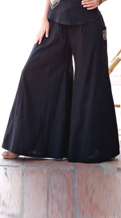 Cotton Palazzo Pant With Pocket