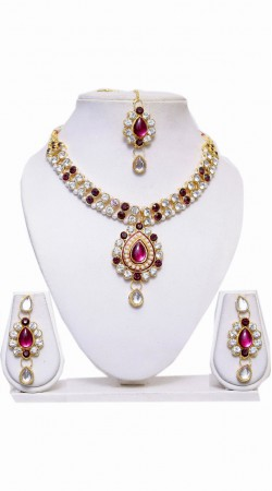 Exclusive Stone Work Imitation Jewellery