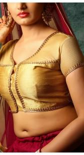Golden Brocade Stylish Blouse