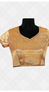 Golden Lace Work Brocade Blouse