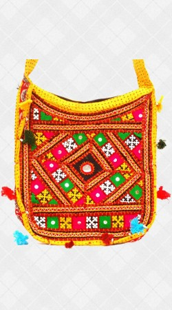 Hand Crafted Rajasthani Work Bag IBOBG53