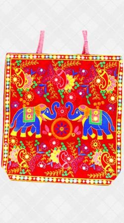 Handmade Bag With Jaipuri Work IBOBG49