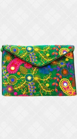 Jaipuri Thread Work Sling Bag IBOBG13