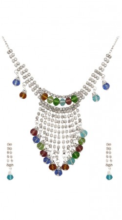 Party Wear Multicolor Necklace Set