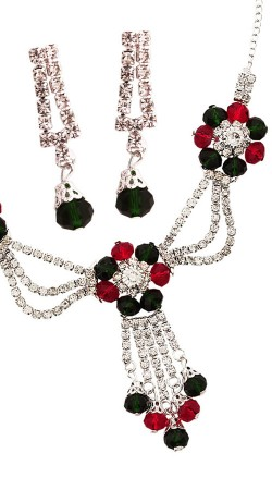 Party Wear Necklace Set With Earrings