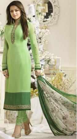 Pista Green Drashti Dhami Churidar Salwar Suit