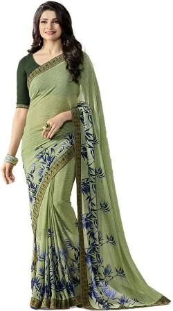 Prachi Desai Mehendi Green Casual Saree
