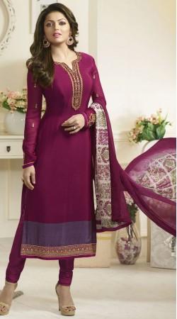 Purple Crepe Drashti Dhami Salwar Kameez