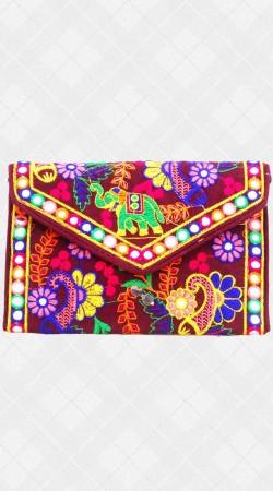Sling Bag With Jaipuri Work IBOBG41