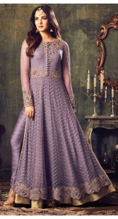 Sonal Chauhan Lavender Floor Length Kameez With Parallel Pant 3YS470774