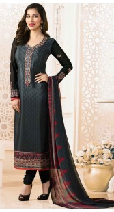 Sophie Choudry Black Salwar Suit With Matching Dupatta
