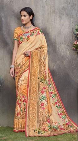 Orange Saree For Raksha Bandhan Wear