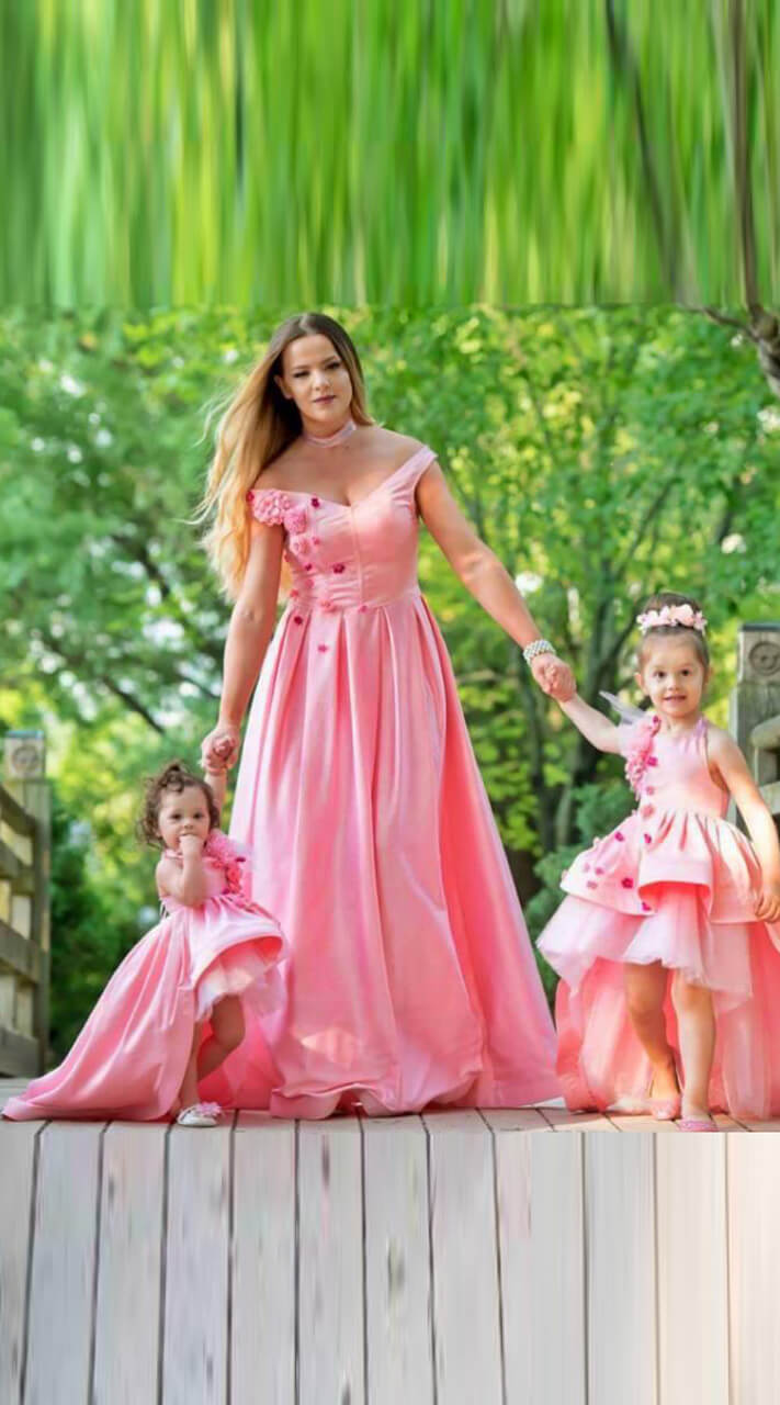 2017 summer mother daughter dresses matching mother